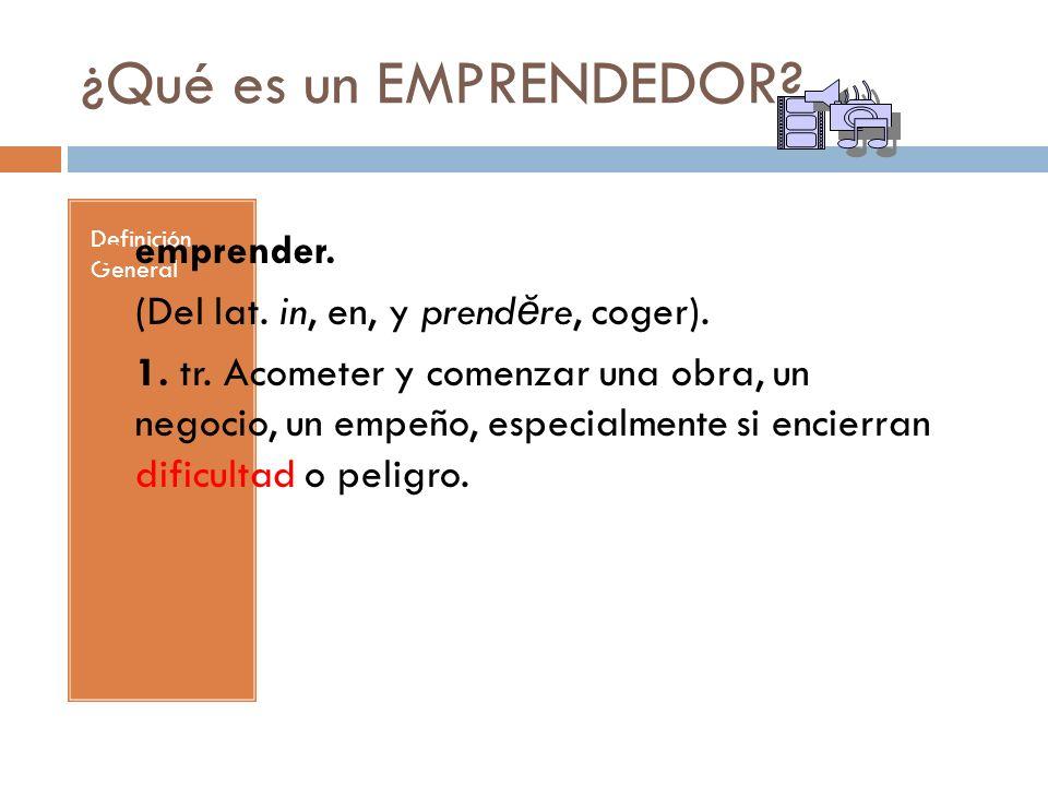 Emprendedor Definición Empresarial Se denomina emprendedor/a a aquella persona que sabe descubrir, identificar una oportunidad de negocios, decide organizarla, conseguir los recursos necesarios para comenzarla y luego llevarla a su realización.