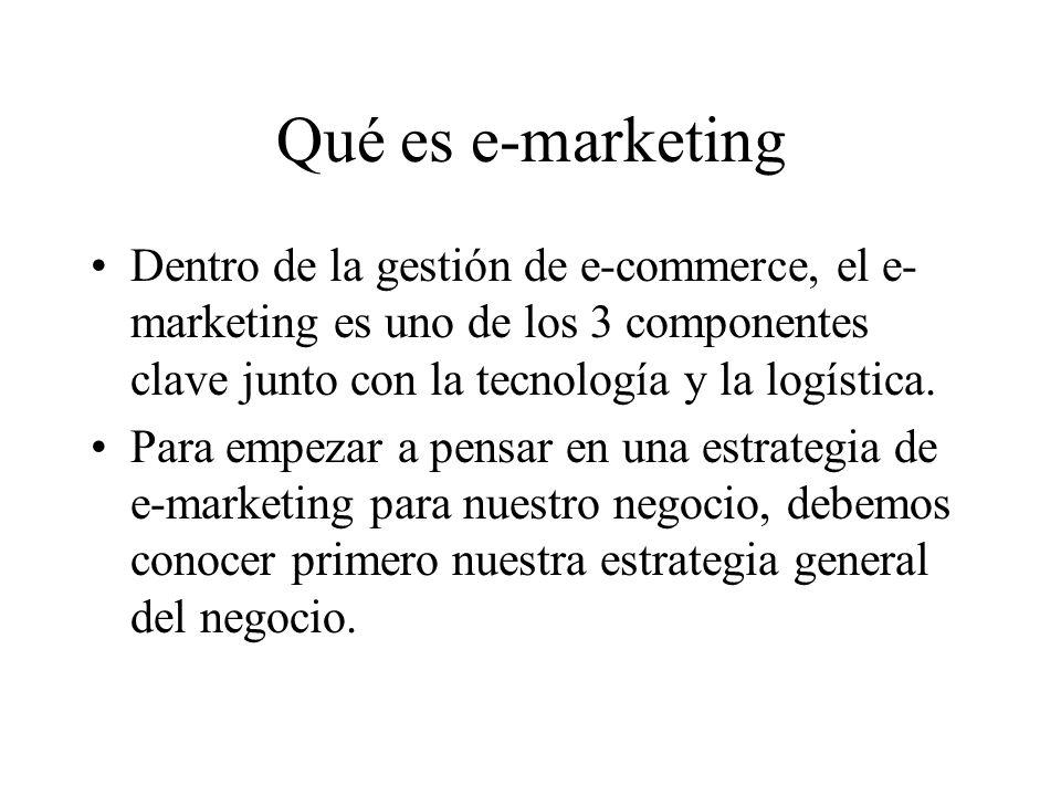 Por qué E-marketing.Qué trae la e de e-marketing de nuevo .