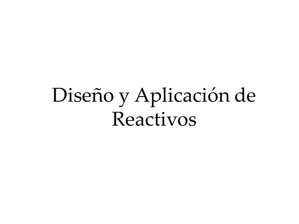 Diseño y Aplicación de Reactivos