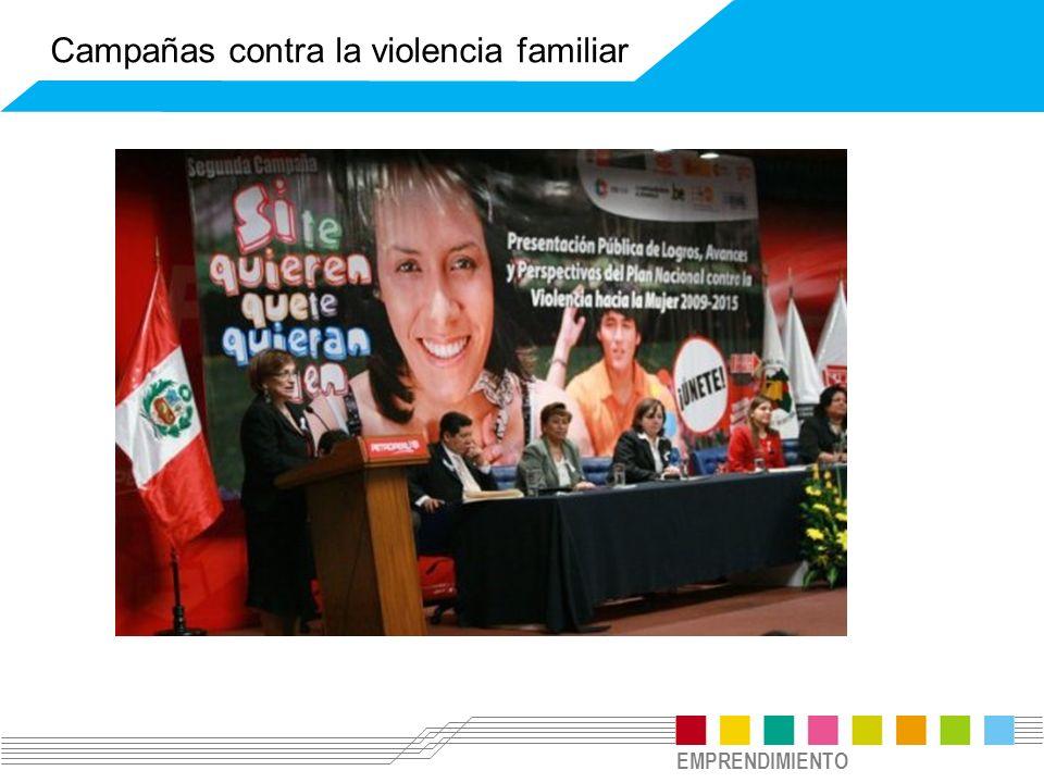 EMPRENDIMIENTO Campañas contra la violencia familiar