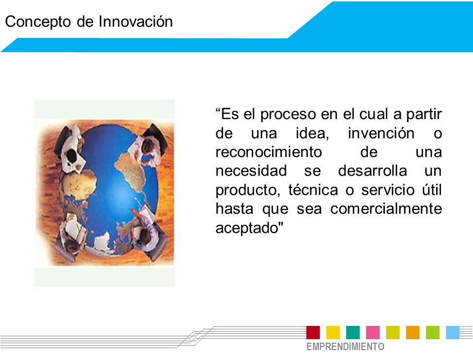EMPRENDIMIENTO Es el proceso en el cual a partir de una idea, invención o reconocimiento de una necesidad se desarrolla un producto, técnica o servici