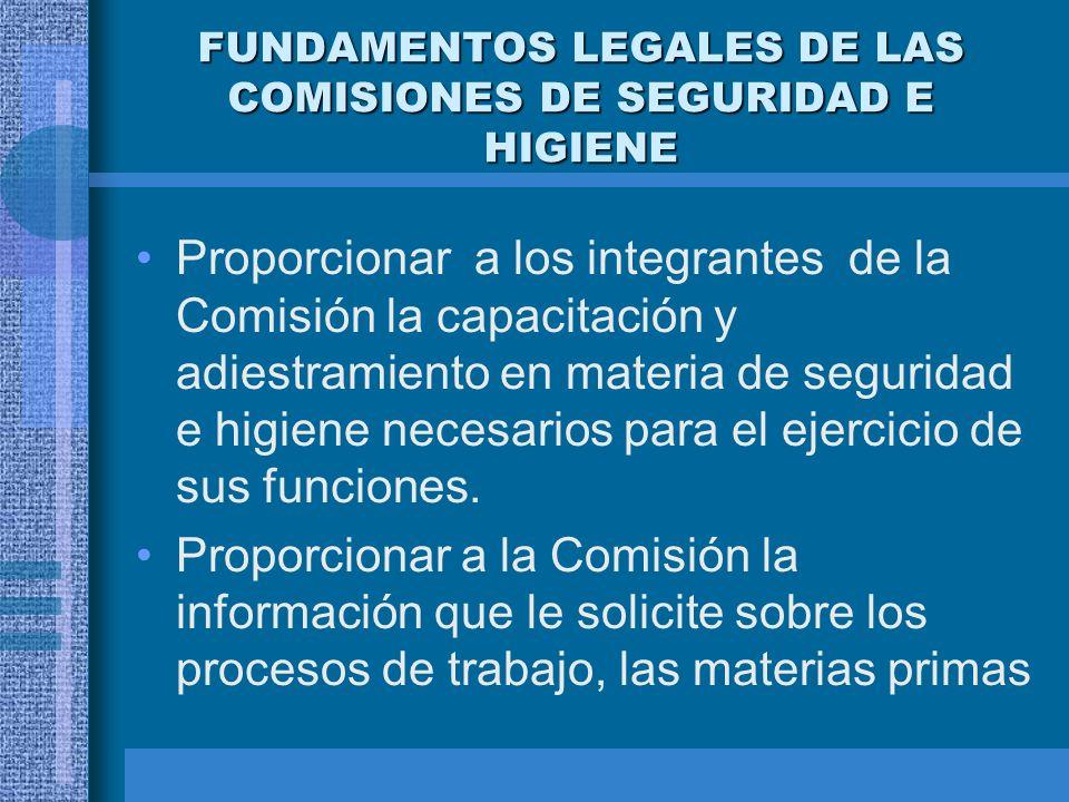 FUNDAMENTOS LEGALES DE LAS COMISIONES DE SEGURIDAD E HIGIENE NOM-019-STPS CONSTITUCION Y FUNCIONAMIENTO DE LAS COMISIONES DE SEGURIDAD E HIGIENE Oblig