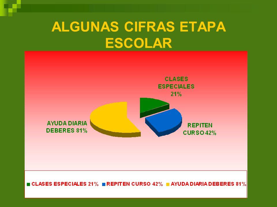 ALGUNAS CIFRAS ETAPA ESCOLAR
