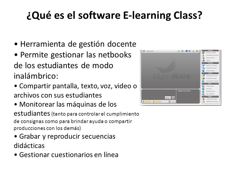¿Qué es el software E-learning Class.
