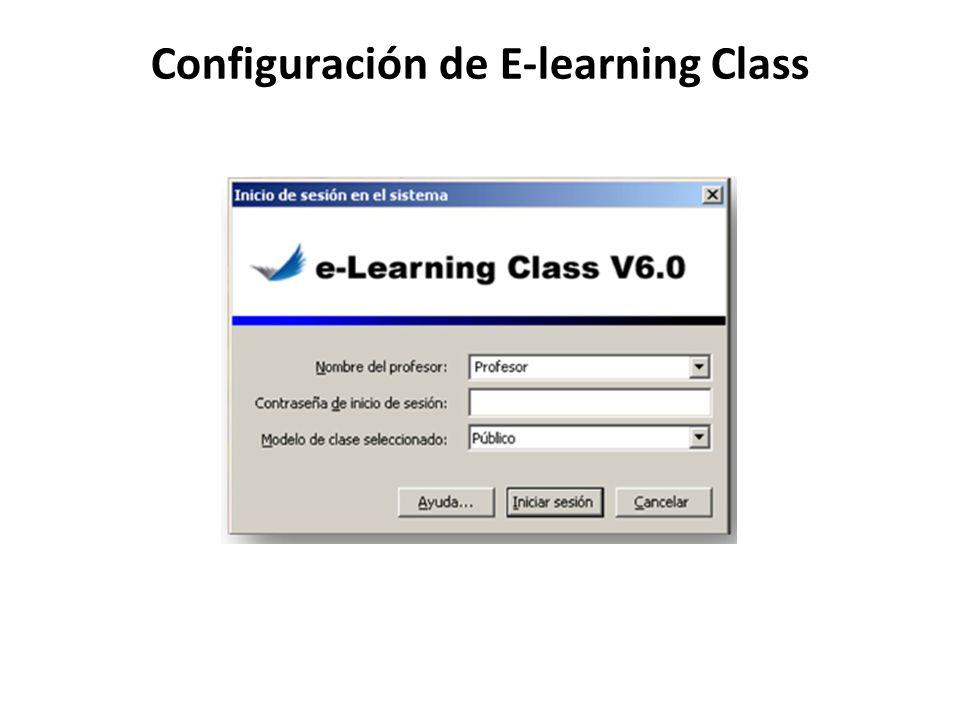Configuración de E-learning Class
