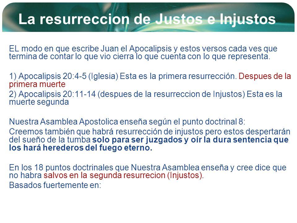 Company Logo La resurreccion de Justos e Injustos EL modo en que escribe Juan el Apocalipsis y estos versos cada ves que termina de contar lo que vio