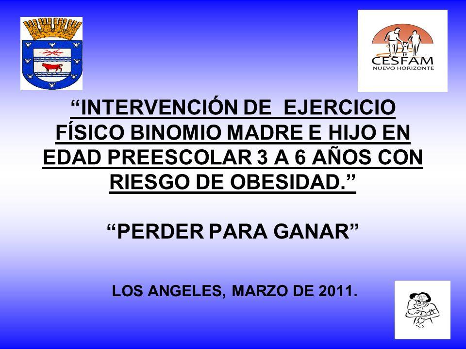 INTERVENCIÓN DE EJERCICIO FÍSICO BINOMIO MADRE E HIJO EN EDAD PREESCOLAR 3 A 6 AÑOS CON RIESGO DE OBESIDAD. PERDER PARA GANAR LOS ANGELES, MARZO DE 20