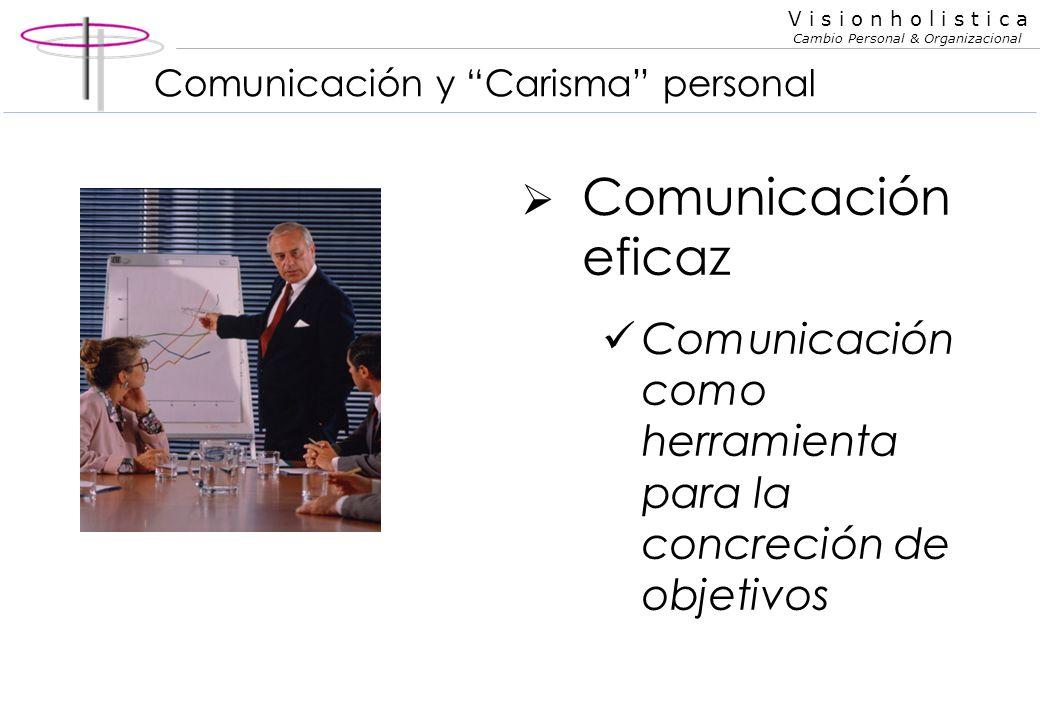 V i s i o n h o l i s t i c a Cambio Personal & Organizacional La importancia de la comunicación El mundo no sabe lo que somos... Sino solo lo que com
