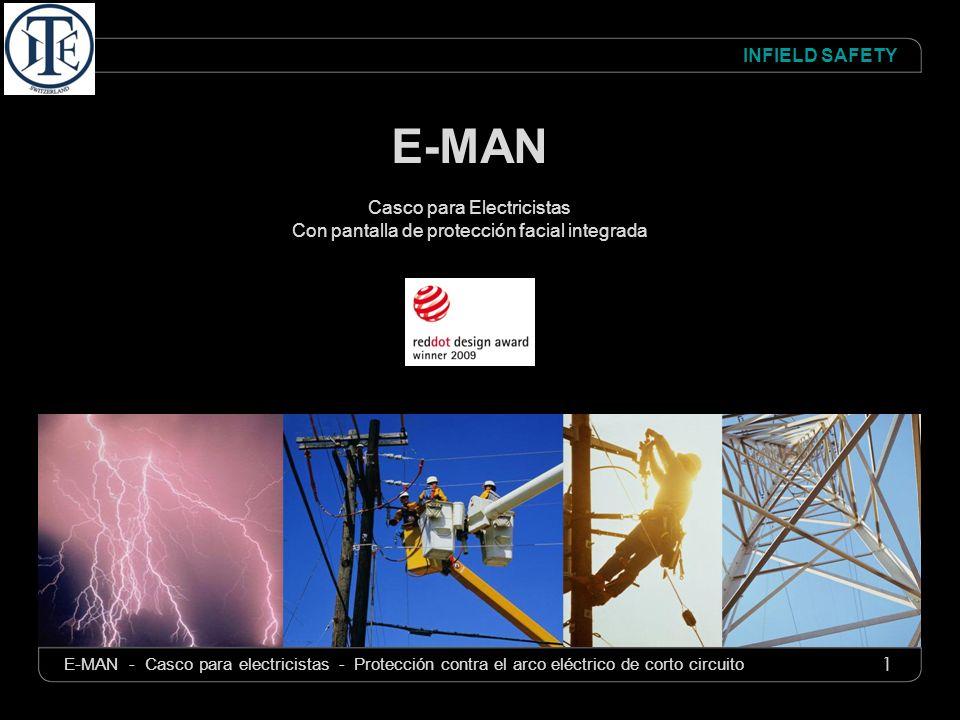 1 INFIELD SAFETY E-MAN - Casco para electricistas - Protección contra el arco eléctrico de corto circuito E-MAN Casco para Electricistas Con pantalla