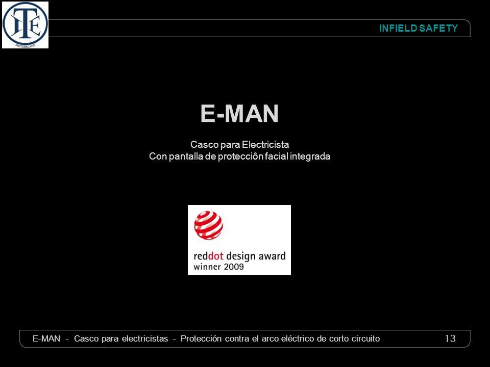 13 INFIELD SAFETY E-MAN - Casco para electricistas - Protección contra el arco eléctrico de corto circuito E-MAN Casco para Electricista Con pantalla