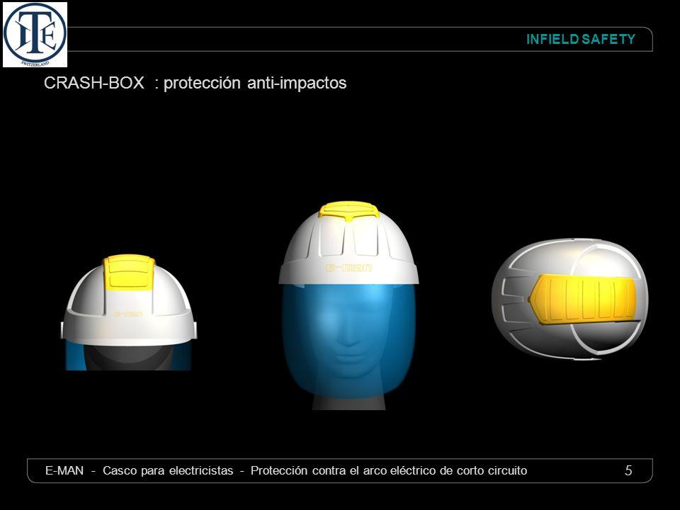 5 INFIELD SAFETY E-MAN - Casco para electricistas - Protección contra el arco eléctrico de corto circuito CRASH-BOX : protección anti-impactos
