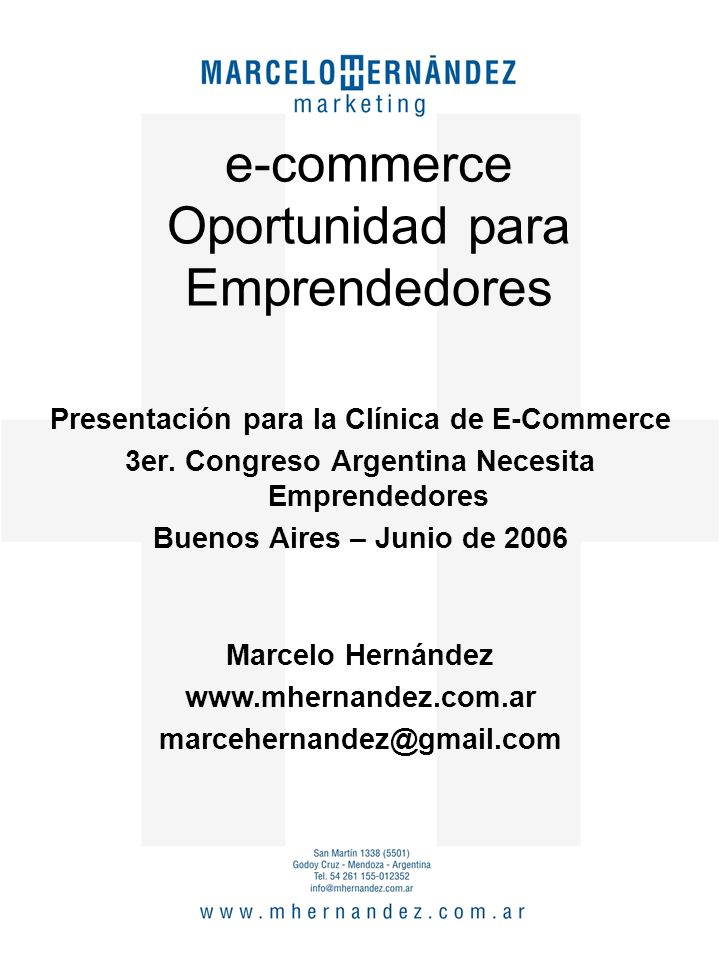 Presentación para la Clínica de E-Commerce 3er.