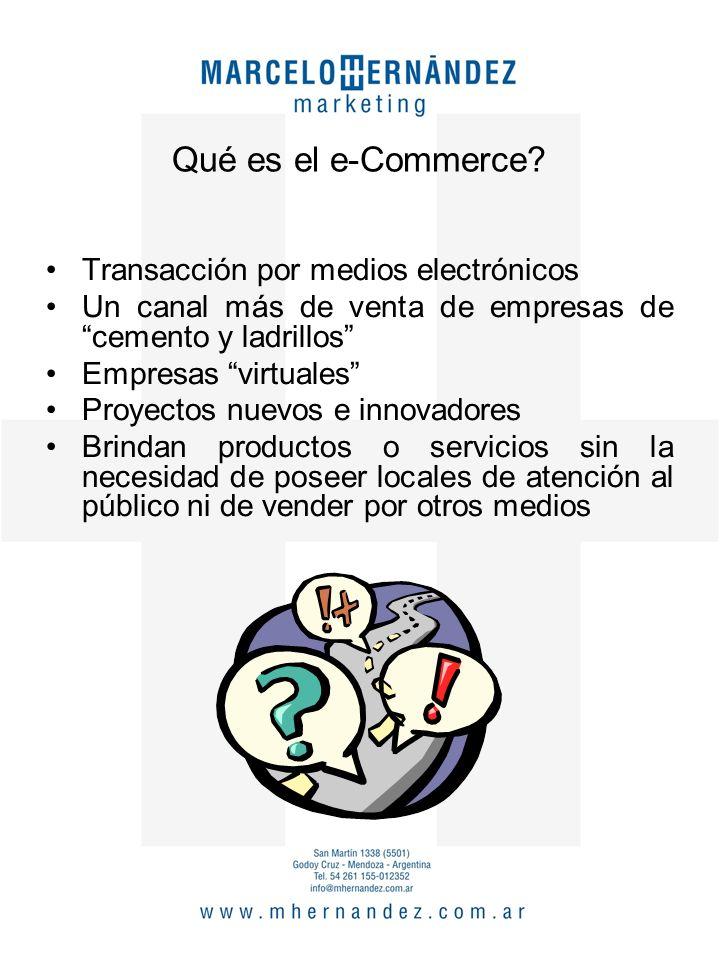 Opciones del e-Commerce B2B Business to Business B2C Business to Consumer C2C C2B Consumer to Consumer Consumer to Business B2G Business to Goverment
