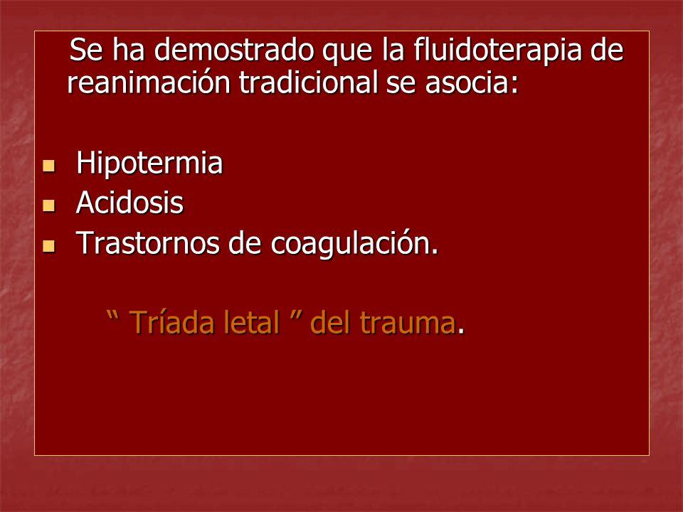 Reanimación Tardía Estudio: 598 adultos con trauma penetrante en tórax con presión arterial sistólica 90mm Validez: Estudio pseudo-aleatorizado, no ciego.