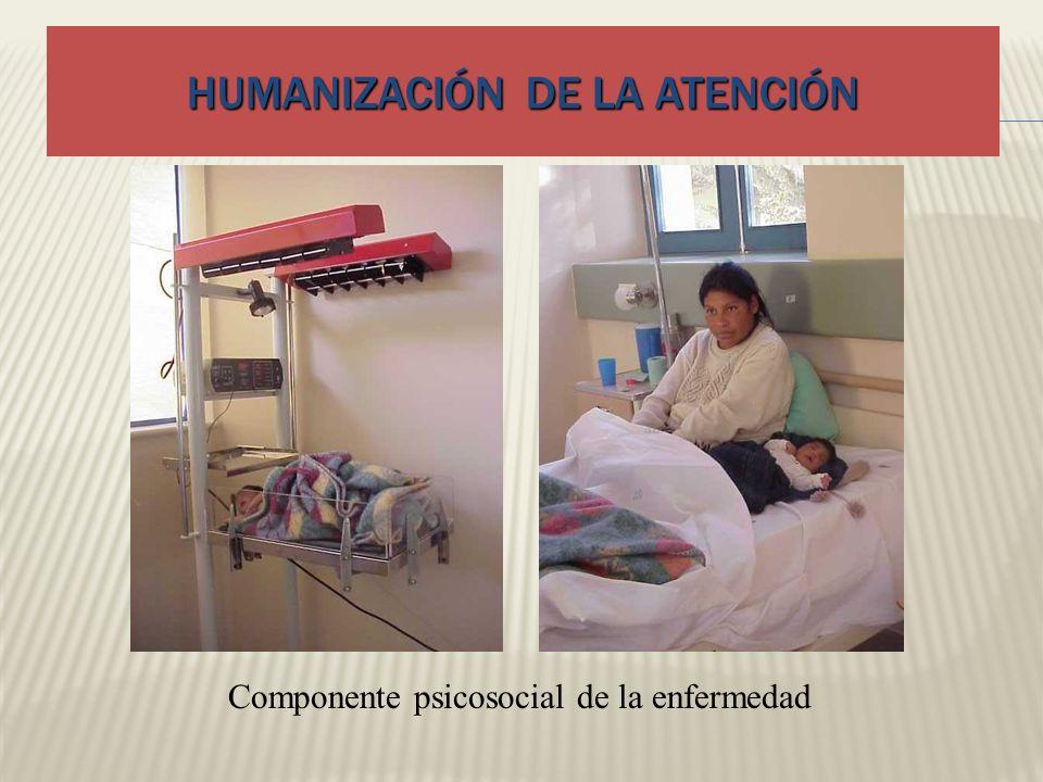 HUMANIZACIÓN DE LA ATENCIÓN Componente psicosocial de la enfermedad