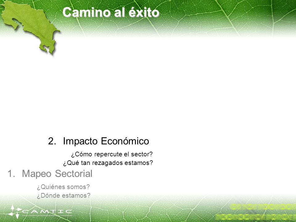 Camino al éxito 1.Mapeo Sectorial ¿Quiénes somos? ¿Dónde estamos? 2.Impacto Económico ¿Cómo repercute el sector? ¿Qué tan rezagados estamos?