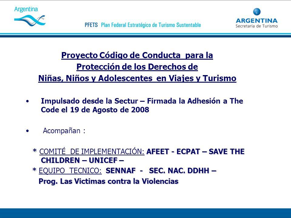 Proyecto Código de Conducta para la Protección de los Derechos de Niñas, Niños y Adolescentes en Viajes y Turismo Impulsado desde la Sectur – Firmada
