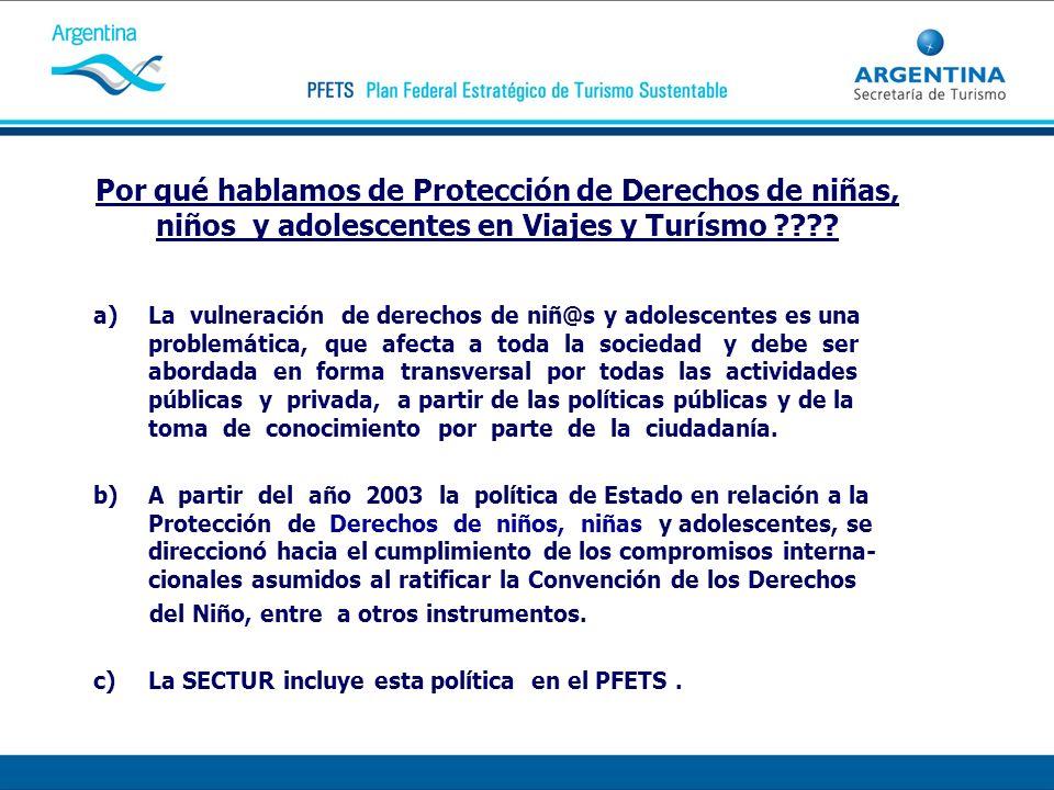 Por qué hablamos de Protección de Derechos de niñas, niños y adolescentes en Viajes y Turísmo ???? a)La vulneración de derechos de niñ@s y adolescente