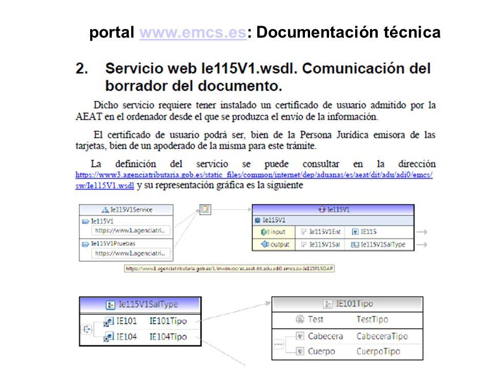 portal www.emcs.es: Documentación técnicawww.emcs.es