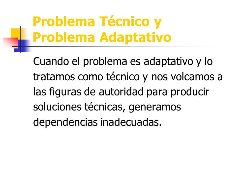 Problemas Técnicos Problemas Adaptativos Complejidad Dinámica Complejidad Social Complejidad Generativa