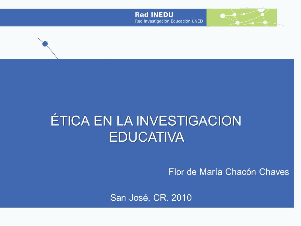 2 Objetivos a)Describir algunos problemas éticos identificados en las prácticas de la investigación educativa.