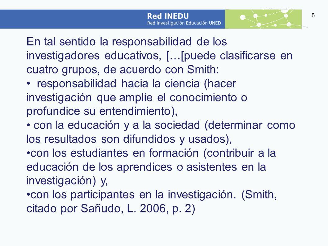 6 ¿En qué consiste la ética en las prácticas de la investigación educativa.