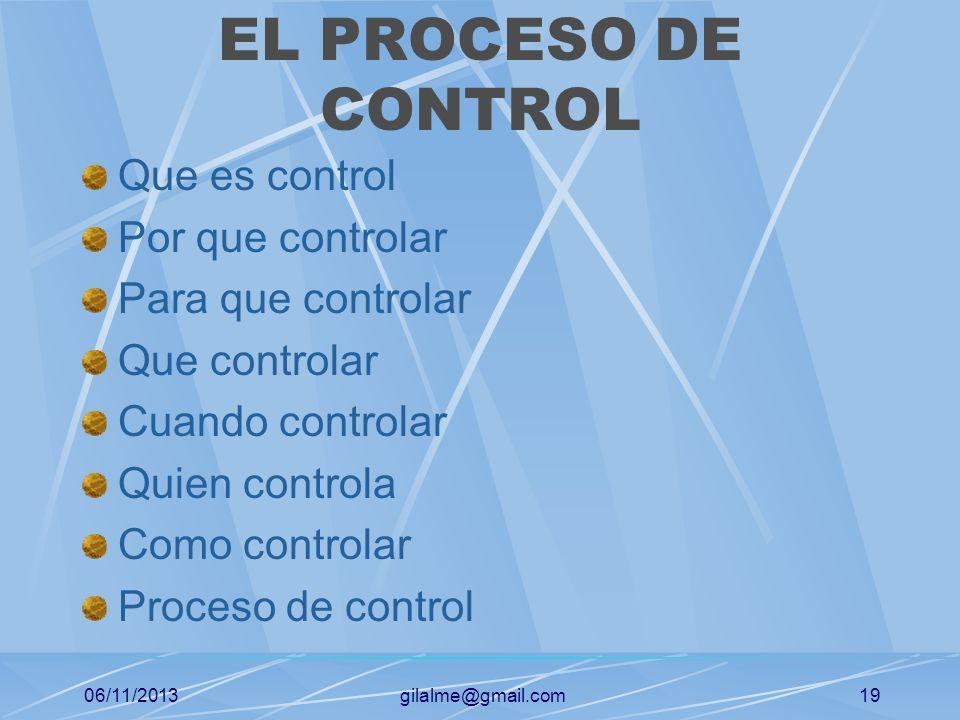 06/11/2013gilalme@gmail.com18 COMO PLANEAR DIRECCIONAMIENTO ESTRATEGICO Definición de misión Fijación de la visión Determinación de objetivos Principi