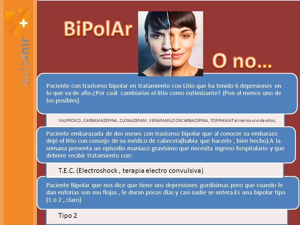 Paciente con trastorno bipolar en tratamiento con Litio que ha tenido 6 depresiones en lo que va de año.¿Por cuál cambiarias el litio como eutimizante.