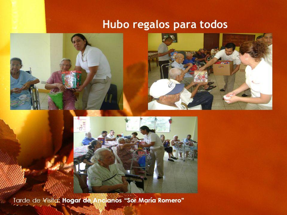Hubo regalos para todos Tarde de Visita: Hogar de Ancianos Sor María Romero