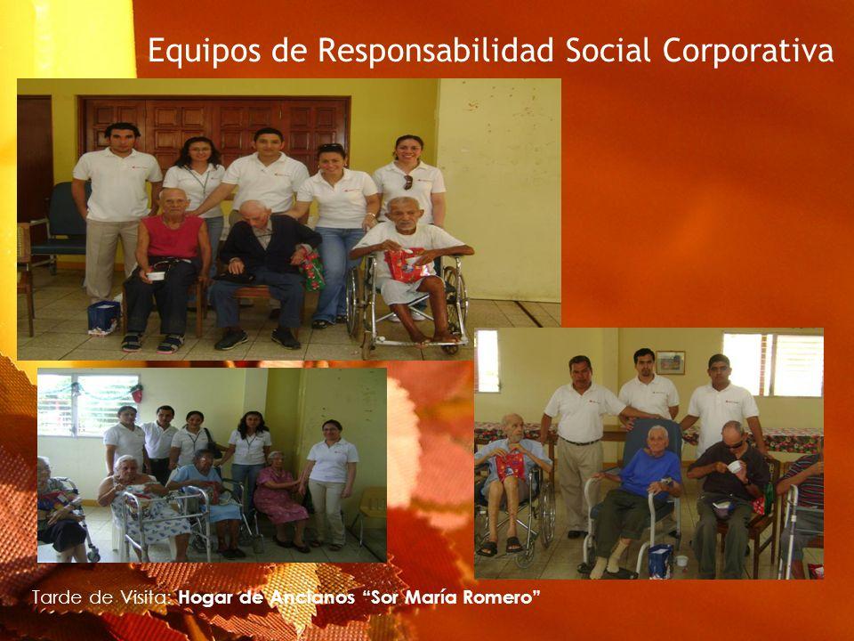 Equipos de Responsabilidad Social Corporativa Tarde de Visita: Hogar de Ancianos Sor María Romero
