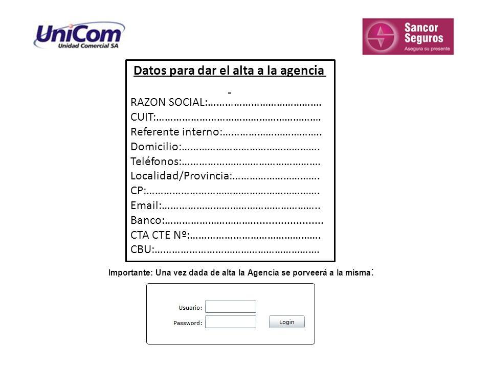 INSTRUCTIVO OPERATORIA CONCESIONARIAS El cotizador de Sancor Seguros, se debe abrir siempre desde Internet Explorer, no funciona con otros buscadores.