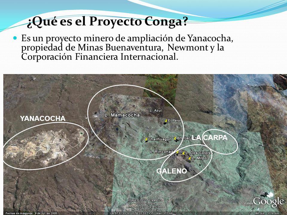 ¿Las actividades de minado y procesamiento del Proyecto Conga emitirán sustancias químicas tóxicas.