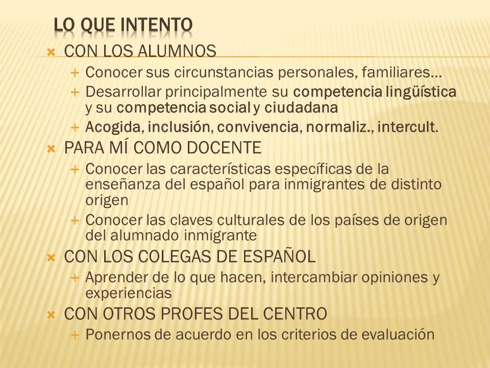 ¿Cómo enseñar español a alumnos de diversas procedencias, con distintas lenguas, en situaciones muy heterogéneas.