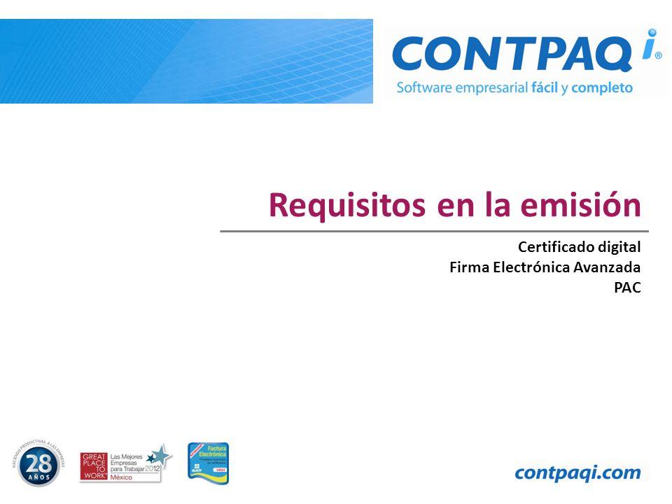 Requisitos en la emisión Certificado digital Firma Electrónica Avanzada PAC