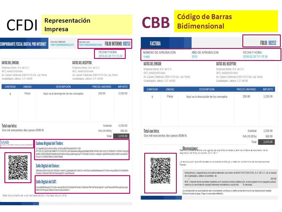 CFDI Representación Impresa UUID ad662d33-6934-459c-a128-bdf0393e0f44 Este documento es una representación impresa de un CFDI Este comprobante tendrá