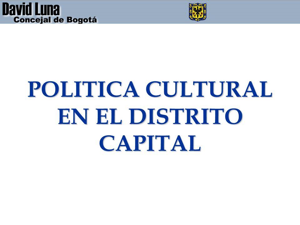 POLITICA CULTURAL EN EL DISTRITO CAPITAL