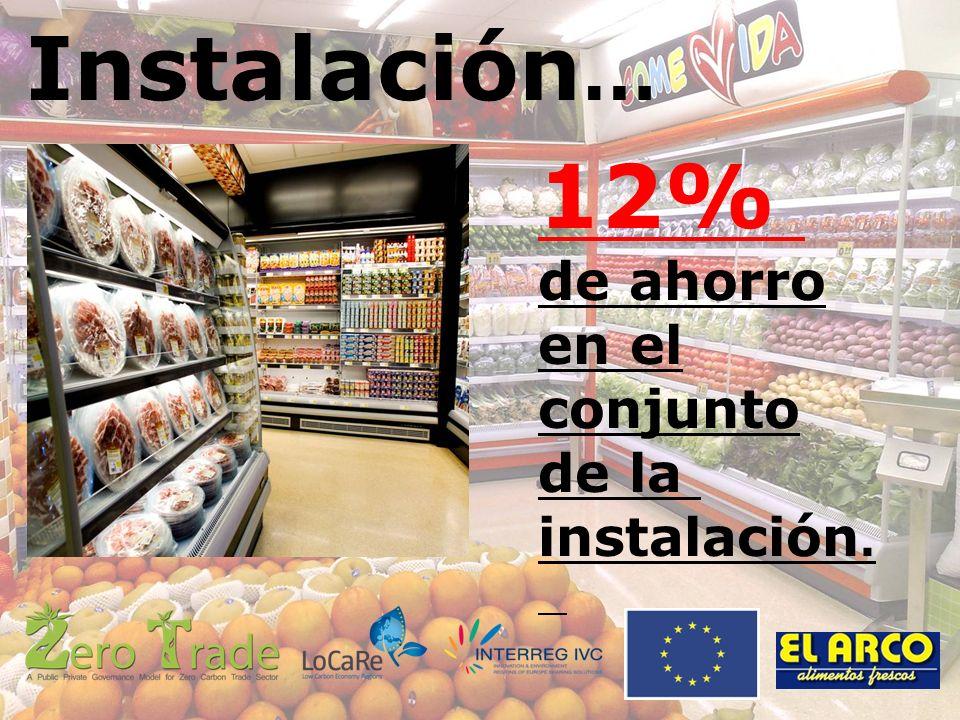 Instalación … 12% de ahorro en el conjunto de la instalación.