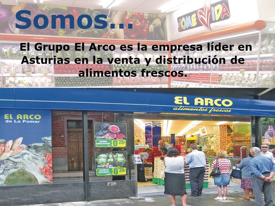 Somos… El Grupo El Arco es la empresa líder en Asturias en la venta y distribución de alimentos frescos.