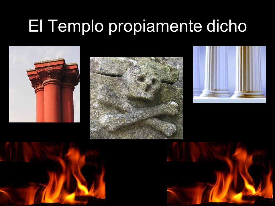 El Templo propiamente dicho Representa, como dijimos, la Sala de Audiencias del Palacio del Rey Salomón. Las colgaduras son negras con borlas de plata