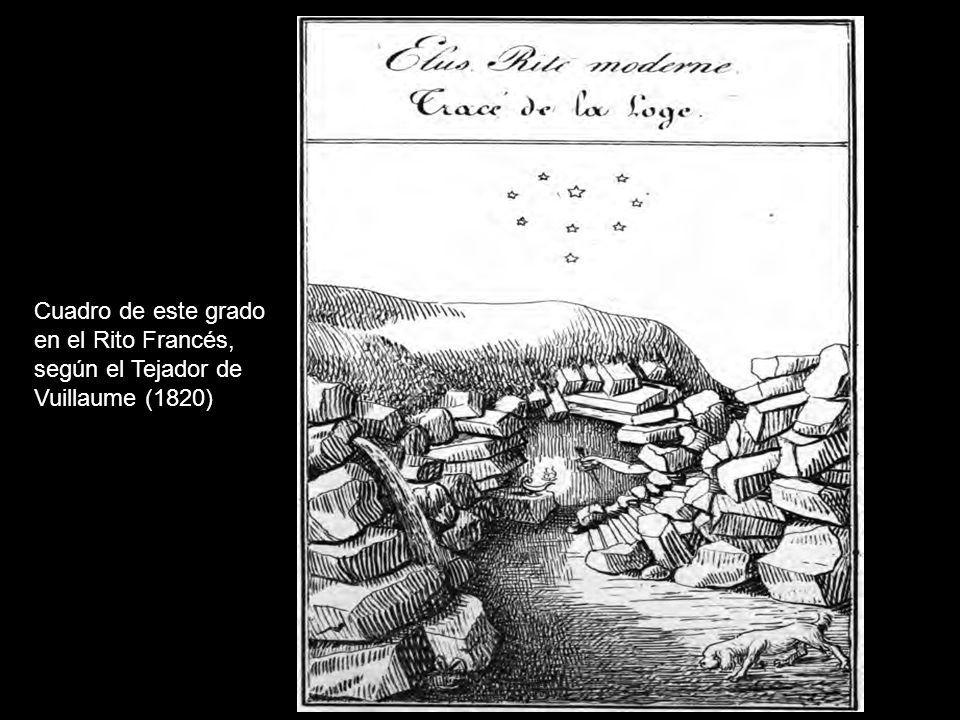 Cuadro de este grado en el Rito Francés, según el Tejador de Vuillaume (1820)