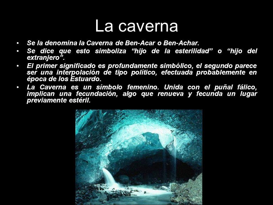 La caverna Se la denomina la Caverna de Ben-Acar o Ben-Achar. Se dice que esto simboliza hijo de la esterilidad o hijo del extranjero. El primer signi