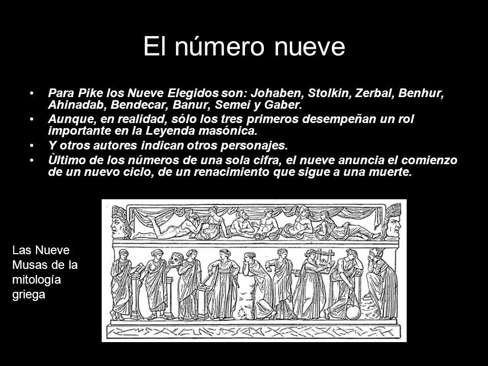 El número nueve Para Pike los Nueve Elegidos son: Johaben, Stolkin, Zerbal, Benhur, Ahinadab, Bendecar, Banur, Semei y Gaber. Aunque, en realidad, sól