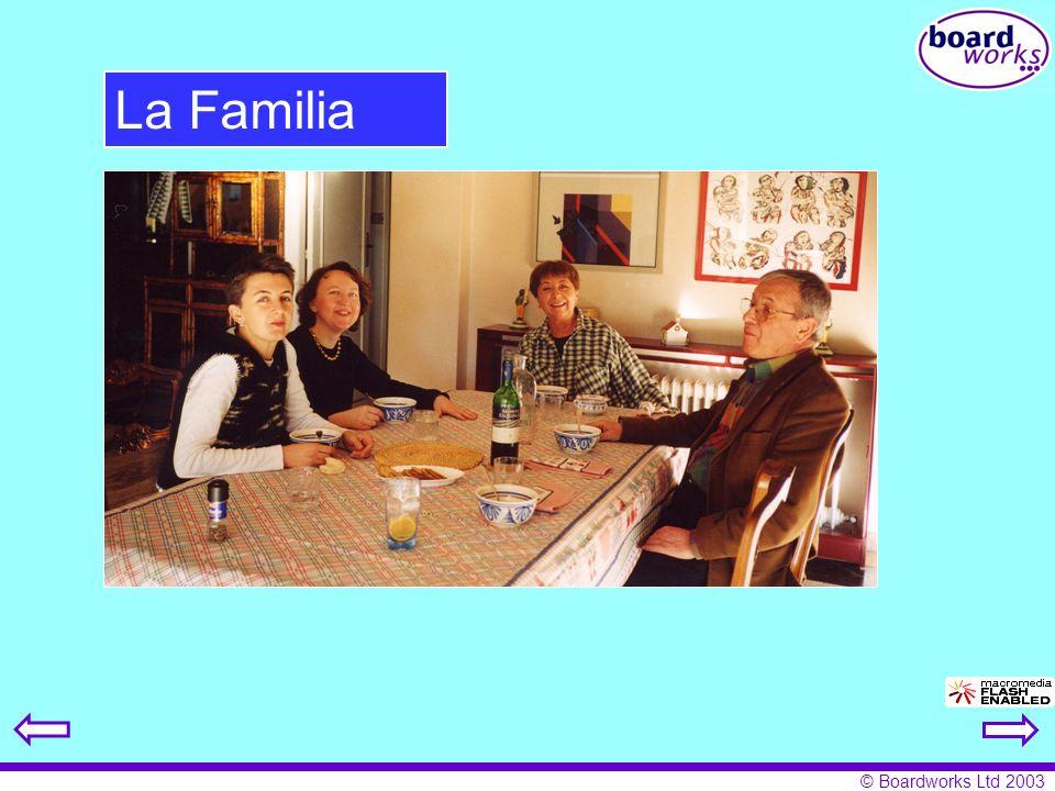 © Boardworks Ltd 2003 La Familia