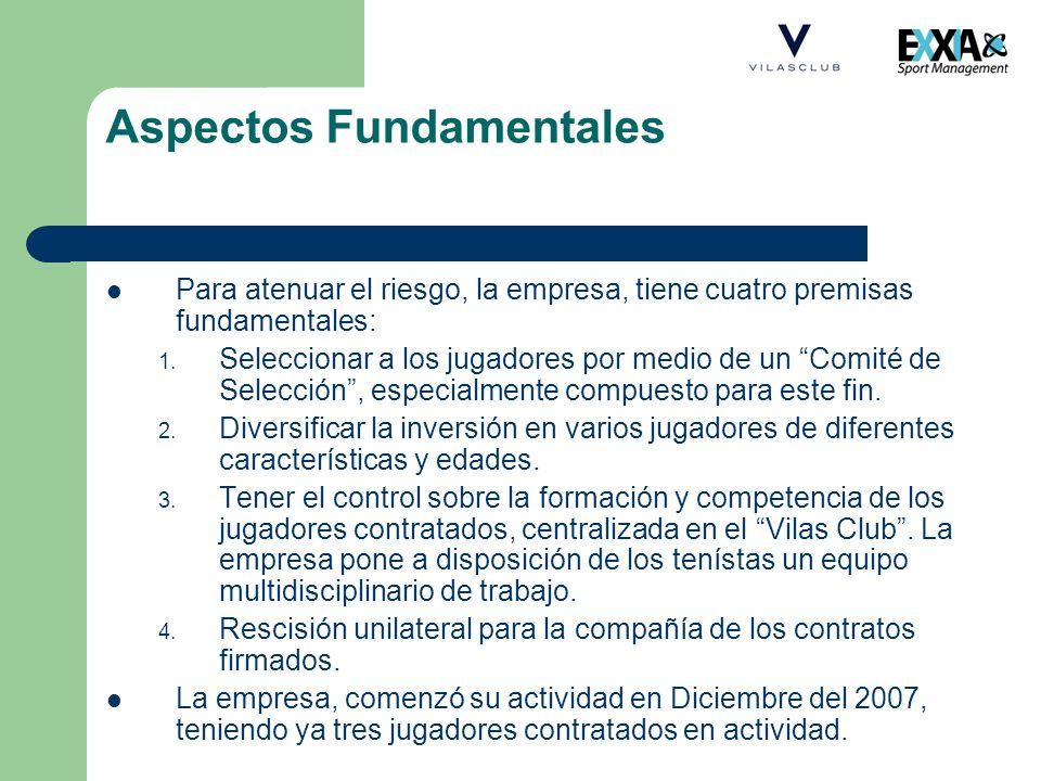 Aspectos Fundamentales Para atenuar el riesgo, la empresa, tiene cuatro premisas fundamentales: 1. Seleccionar a los jugadores por medio de un Comité