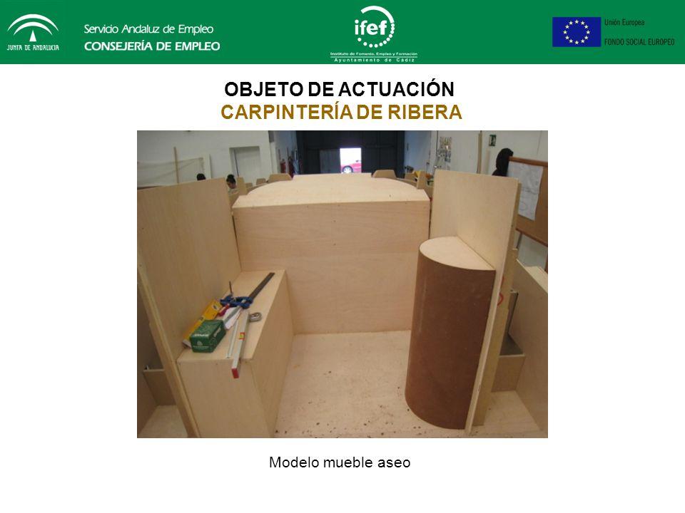OBJETO DE ACTUACIÓN CARPINTERÍA DE RIBERA Tambuchos cubierta