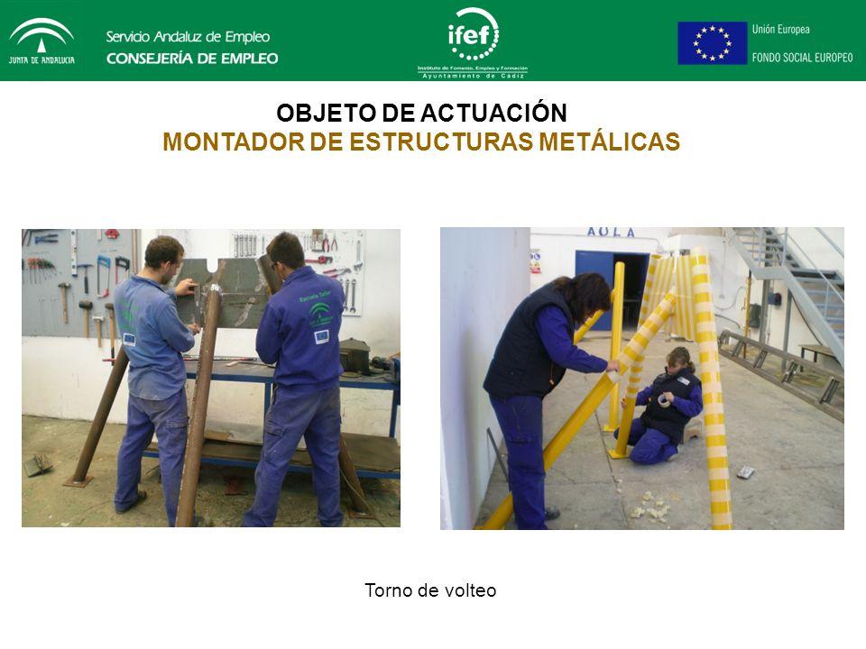 Fabricación de torno para volteo de la embarcación OBJETO DE ACTUACIÓN MONTADOR DE ESTRUCTURAS METÁLICAS