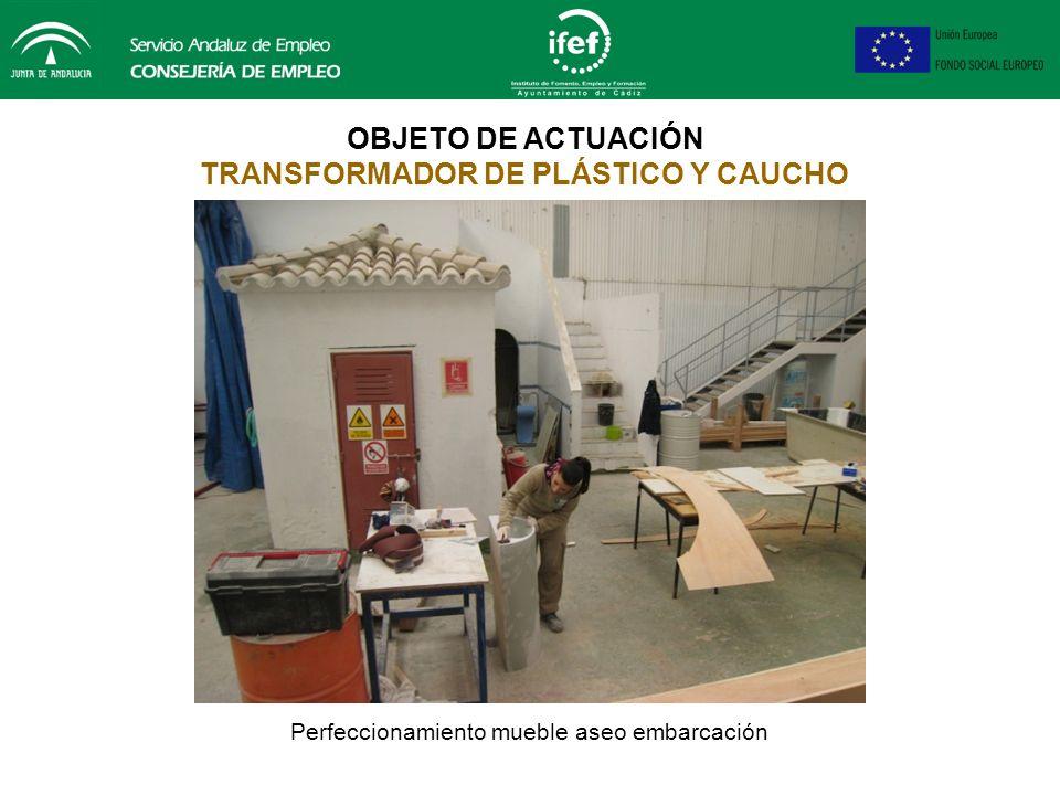 OBJETO DE ACTUACIÓN TRANSFORMADOR DE PLÁSTICO Y CAUCHO Laminación y perfeccionamiento modelo del casco