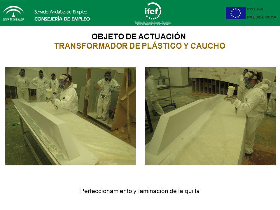 OBJETO DE ACTUACIÓN TRANSFORMADOR DE PLÁSTICO Y CAUCHO Perfeccionamiento mueble aseo embarcación