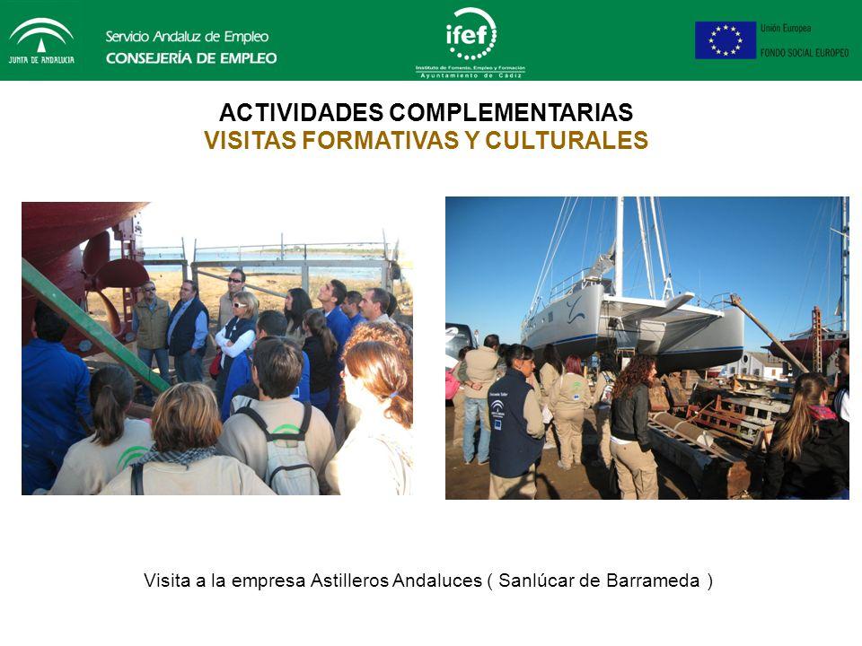 ACTIVIDADES COMPLEMENTARIAS VISITAS FORMATIVAS Y CULTURALES Asistencia a las Jornadas de Administración Electrónica desarrolladas en el Palacio de Con
