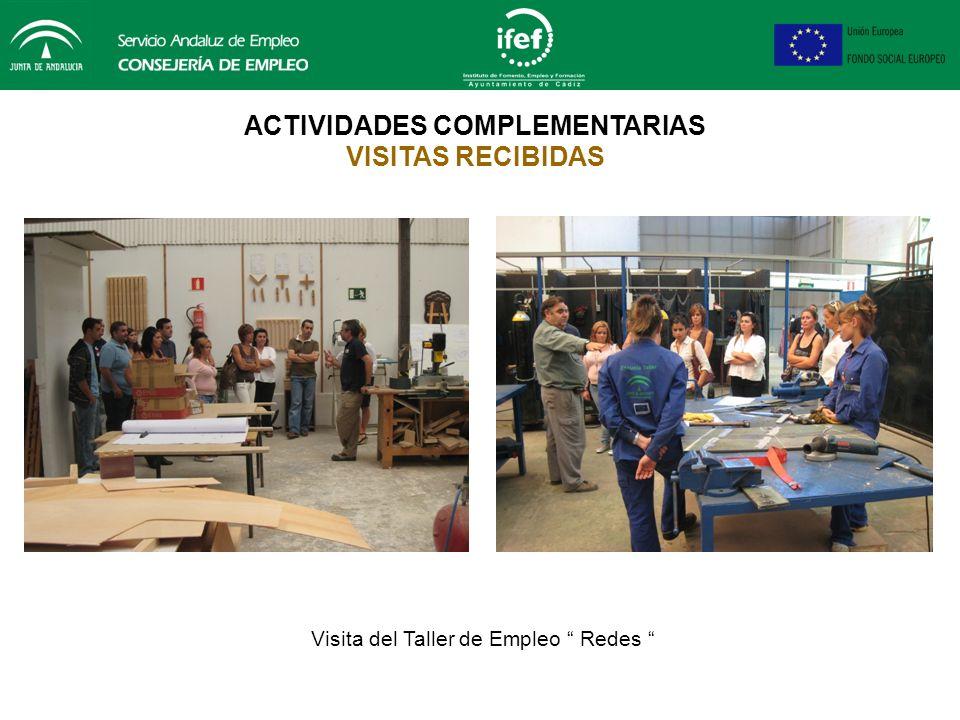 ACTIVIDADES COMPLEMENTARIAS VISITAS RECIBIDAS Visita de la Casa de Oficio Driza